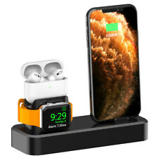 US 3in1 Silicone Charging Dock Stand For Apple iWatch 5/4/3/2/1 AirPod iPhone 11