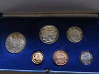 Australia.  1966 PROOF SET - In Light Blue Case..  6 Coins.