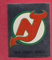 RARE 1987 NEW JERSEY DEVILS  LOGO FOIL STICKER CARD