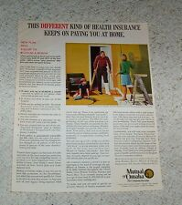 1970 ad page - Mutual of Omaha life health Insurance family boy train PRINT AD