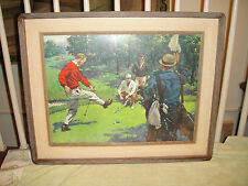 Vintage Arthur Sarnoff Print Body English-Framed Art Of Golf Scene-Framed Art
