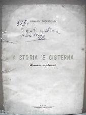Poesia Dialettale Napoli STORIA E CISTERNA Poema napoletano Giovanni BOCCACCIARI