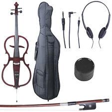 4/4 Electric Cello Full Size Ebony Style 1 ~Mahogany