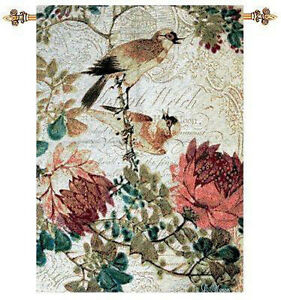 Graceful Birds and Florals Tapestry Wall Hanging