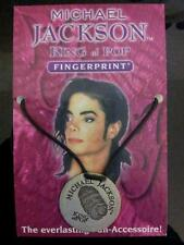 OFFICIAL MICHAEL JACKSON FINGERPRINT NECKLACE PENDANT 1998 HISTORY SIGNED 167