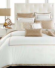 Hotel Collection Embroidered Frame Full/Queen Duvet Cover Champagne $260 G1121