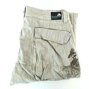 Vintage Nike ACG Mens Cargo Pants Size 36W x 32L Khaki Grey Summit Embroidered