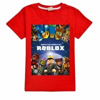 Boys Girls Kid ROBLOX 3D Printing Short Sleeve T-shirt Summer Party Costume Gift