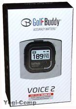 Golfbuddy Voice 2 Black GPS Range Finder w/ Auto Course + Hole Recognition