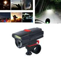 Bike Front Head Light Cycling Bicycle-LED Lamp Flashlight 6 -Modes+Clip Holder.W