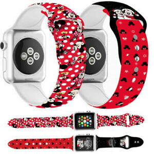 Straps For Apple iWatch Band 6 5 4 3 2 1 SE Christmas Mickey Minnie Case Band