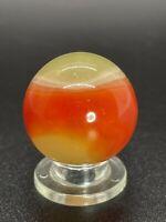 "Akro Agate Marble HTF Akro Cherryade Marble Akro Shooter Marble 0.866"" NM-M"