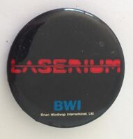 Laserium BWI Retro Button Badge Pin Vintage Authentic (N14)