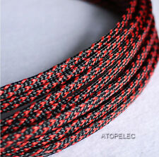 Mix Color 2MM~16MM TIGHT Braided PET Expandable Sleeving Cable Wire Sheath