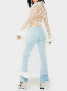 Dolls Kill x Hot & Delicious Women's Walk Through Heaven Ruffle Robe Size Large
