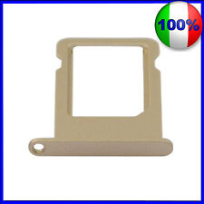 CARRELLO SLOT PORTA MICRO SIM TRAY GOLD DORATO PER IPHONE 5S