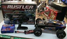 Traxxas Rustler VXL 2WD Brushless Stadium Truck 2 Batteries Charger 70MPH+ N BOX