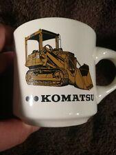 Komatsu Eighmy equipment Tractors Advertising Peoria Rockford IL coffee mug cup