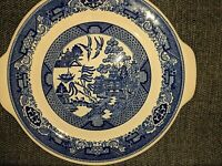Blue Willow Ware by Royal China Cake Plate Serving Platter w/ Handles