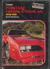 PONTIAC FIREBIRD AND TRANS AM 1970-1981 SHOP MANUAL Jim Combs 978-0892873067