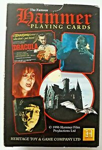 VINTAGE PLAYING CARDS HAMMER HOUSE OF HORRORS 52 & 2 JOKERS HERITAGE 1993 BOXED
