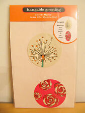 "NEW Hallmark Hangable Message Greeting ""Happy"" Card with Envelope"
