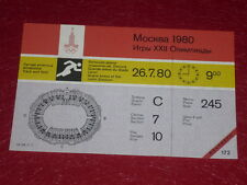JEUX OLYMPIQUES OLYMPIC GAMES MOSCOU 1980 TICKET ATHLETISME 26.7.80 (09h00) TTBE
