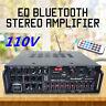 110V/220V 800W 2Ch Bluetooth Home Stereo Amplifier Powered Equalizer EQ Karaok