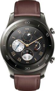 HUAWEI Watch 2 Pro 4g LTE ESim Waterproof Heart GPS Grey Titanium Leather Brand