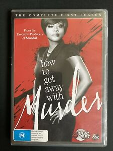 How To Get Away With Murder : Season 1 (DVD, 4-Disc Set) Complete First Season