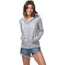 NEW RIP CURL SIMPLY SURF ZIP UP GREY SWEATER JACKET HOODED S SMALL QQ68a RP$54.5