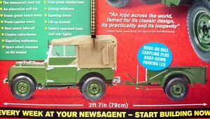 LANDROVER SERIES 1 1951 MODEL KIT ISSUE 1,1:8 SCALE WITH TRAILER 79CM H/SOFT TOP