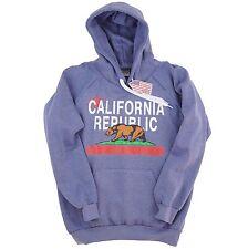 CALIFORNIA REPUBLIC LARGE PULLOVER HOODIE CALI BEAR BLUE STAR