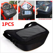 Motorcycle Bike Front Storage Bag Riding Waistpack Touch Screen w/Headphone Hole