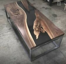 "Epoxy Resin Black Table Top ""6x3"" For Dining Table ""35MM"" width (Top Only)"
