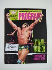 WWF Wrestling Program Magazine #194 Ultimate Warrior WWE 1991