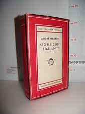 LIBRO André Maurois STORIA DEGLI STATI UNITI 1492-1946 1^ed.'53 Trad.G.Monicelli