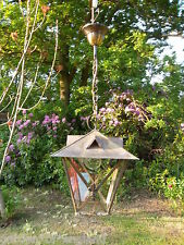 Un molto bello raro vintage francese lanterna in ottone (T157)