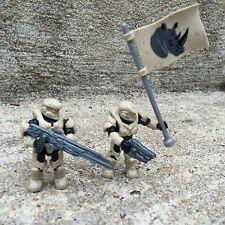 Halo Mega Bloks Set #CNK25 UNSC Fireteam Rhino Figure #2 & 3 With Flag!!