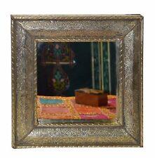 Moroccan Wall Mirror Brass Arabesque Design Handmade Fancy Home Decor MED Square