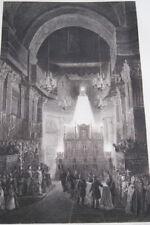 ATTENTAT FIESCHI 1835 FUNERAILLES  INVALIDES GRAVURE 1838 VERSAILLES R1610