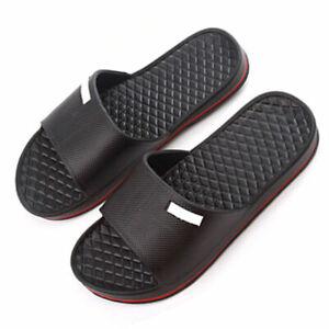Mens Slip On Sport Slide Sandals Flip Flop Shower Shoes Pool Dshq Slippers G8I5