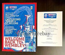 More details for castleford tigers v st helens rugby challenge cup final 2021 programme & menu