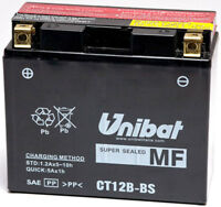 Batería UNIBAT YT12B-BS 12V 10Ah Con Ácido Yamaha YZF-R6 1998 1999 2000