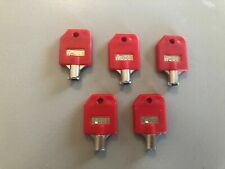 (5) Lot of 5 Vending Keys T-008-fits many gum and candy machines-see pics