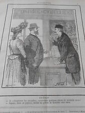 Caricature 1891 En Italie Office Giojellieri pièces de monnaie rares