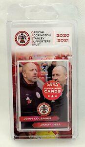 2020-21 Across The Pitch Accrington Stanley Football Club 20 Card Team Set