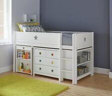 Argos Home Stars Wooden Mid Sleeper Bed Frame - White