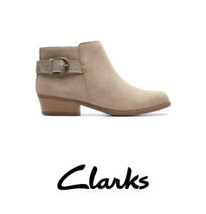 Clarks Collection Addiy Kara Bootie Size 8M Suede Leather MSRP $135