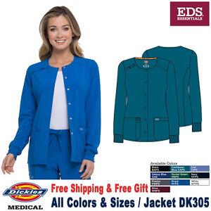 Dickies Scrub EDS ESSENTIALS Women's Snap Front Warm Up Jacket DK305